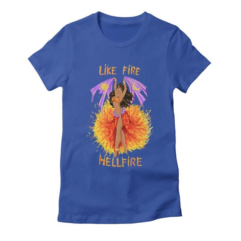 Hellfire Women's Fitted T-Shirt by kktty's Artist Shop