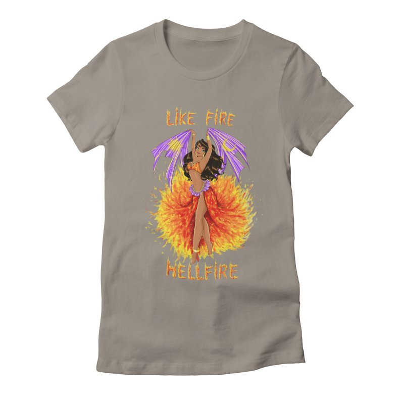 Hellfire Women's Fitted T-Shirt by kktty's Artist Shop