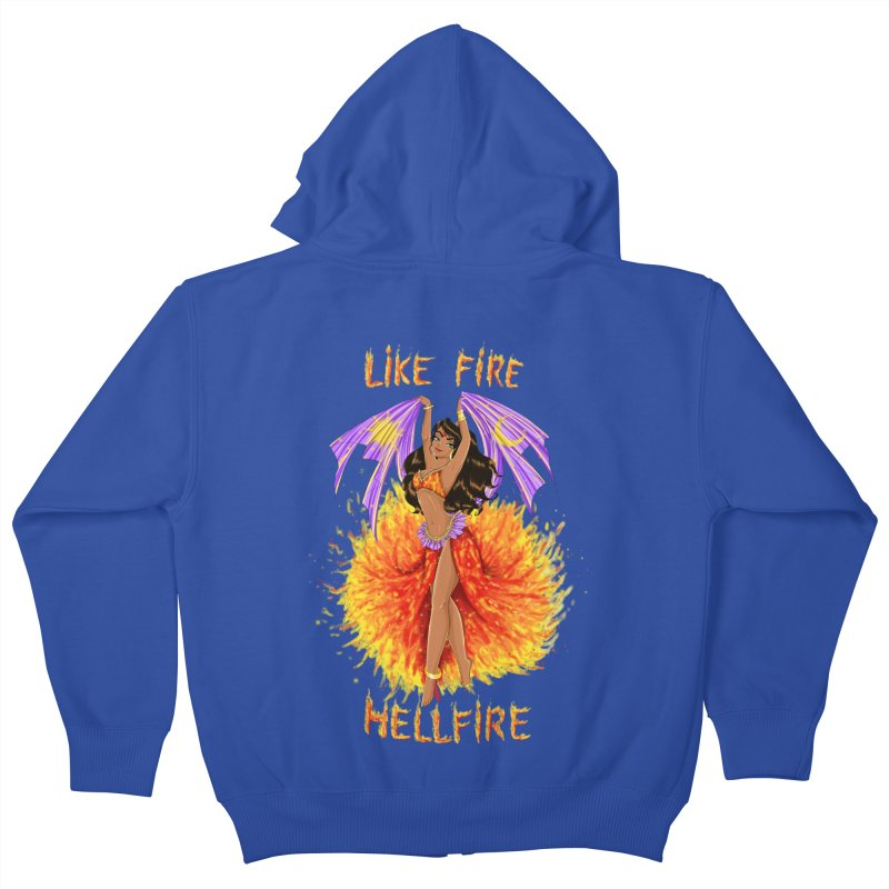 Hellfire Kids Zip-Up Hoody by kktty's Artist Shop