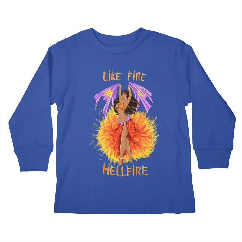 Hellfire Kids Longsleeve T-Shirt by kktty's Artist Shop