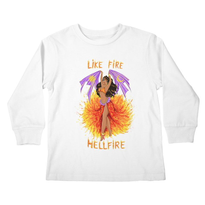 Hellfire Kids Longsleeve T-Shirt by kktty's Artist Shop