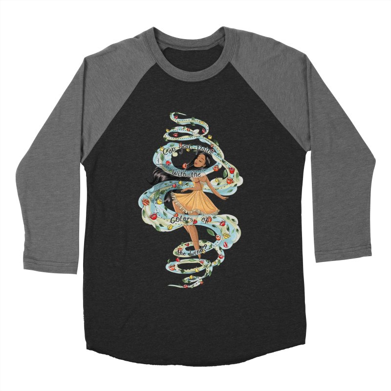 colors of the wind Women's Baseball Triblend T-Shirt by kktty's Artist Shop