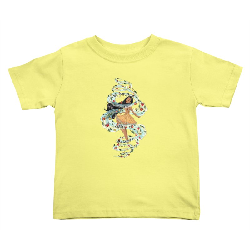 colors of the wind Kids Toddler T-Shirt by kktty's Artist Shop