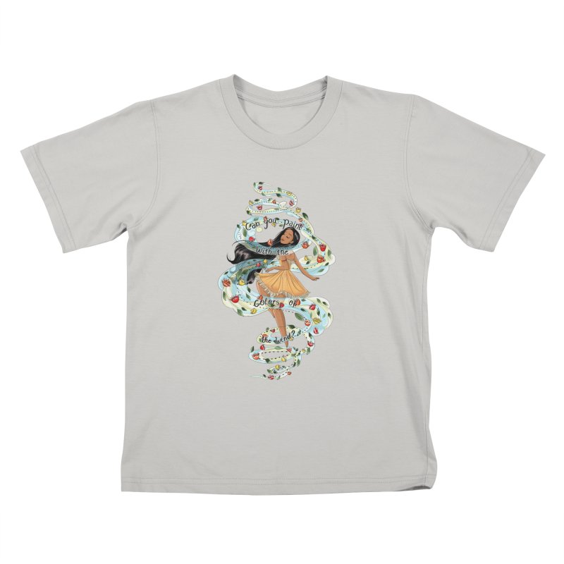 colors of the wind Kids T-Shirt by kktty's Artist Shop