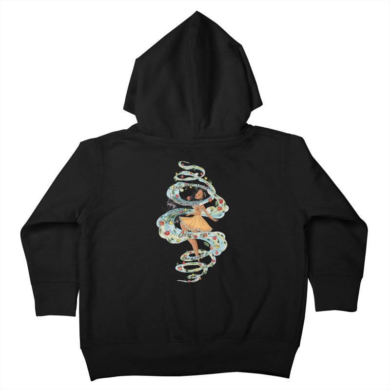 colors of the wind Kids Toddler Zip-Up Hoody by kktty's Artist Shop