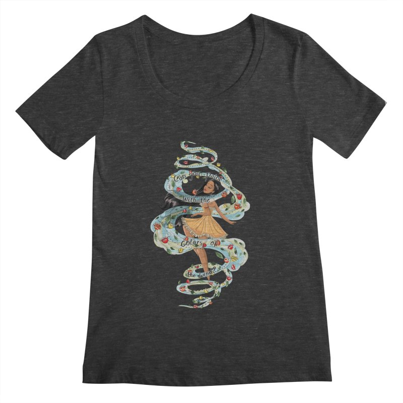 colors of the wind Women's Scoopneck by kktty's Artist Shop