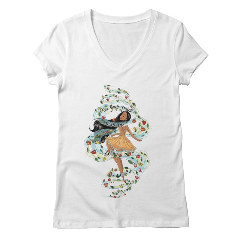 colors of the wind Women's V-Neck by kktty's Artist Shop