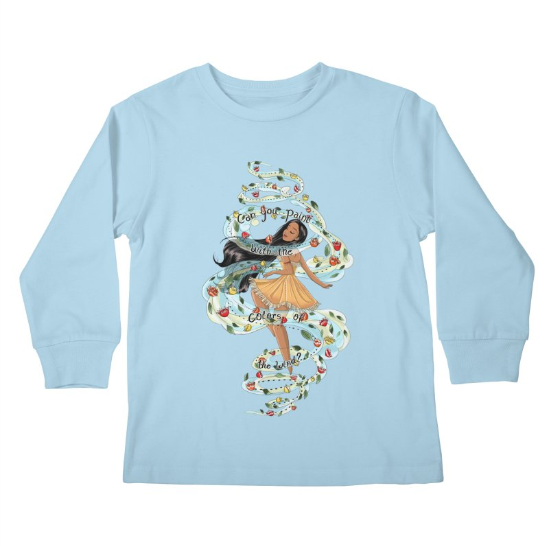 colors of the wind Kids Longsleeve T-Shirt by kktty's Artist Shop