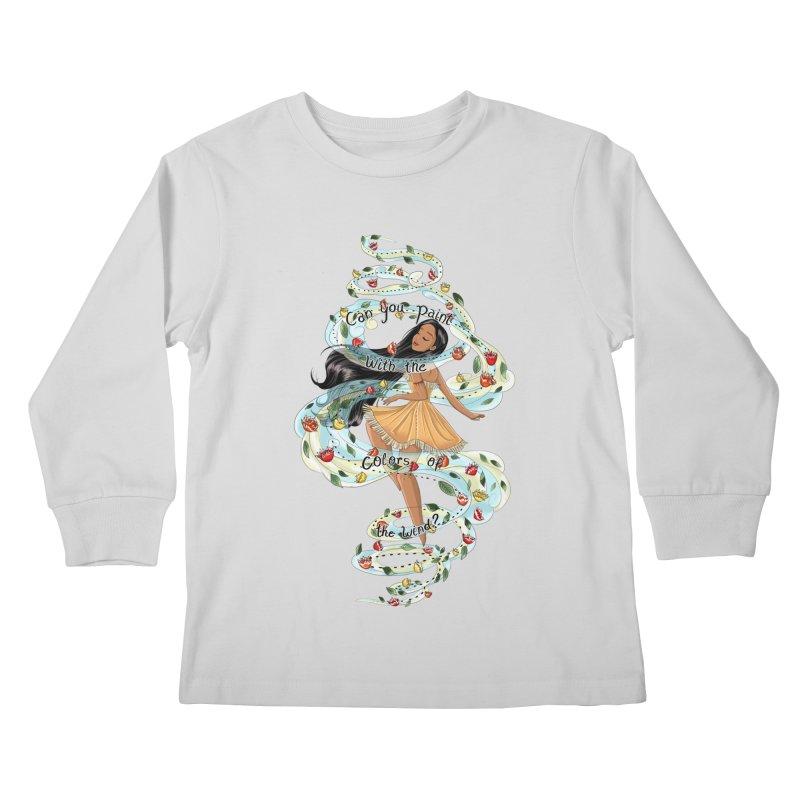 colors of the wind Kids Longsleeve T-Shirt by kktty's Artist Shop