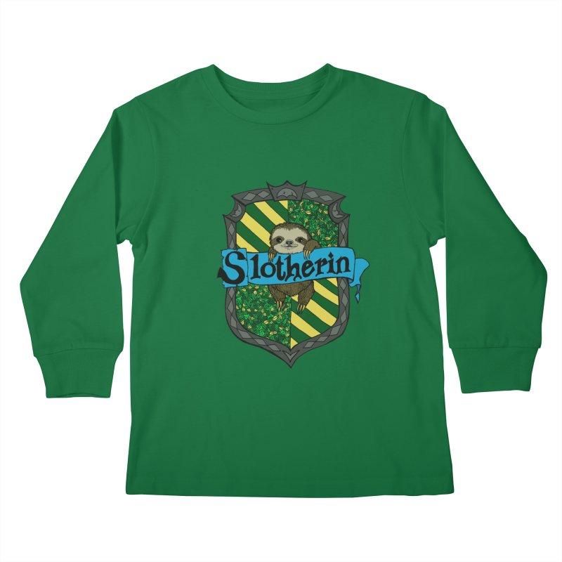 Slotherin Kids Longsleeve T-Shirt by klarasvedang's Shop