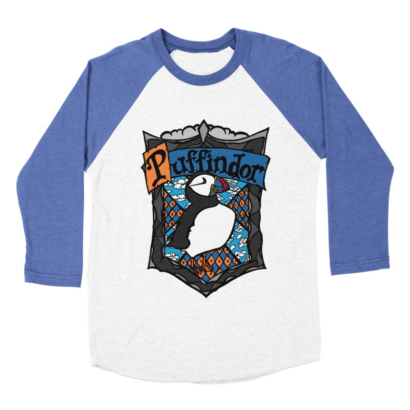 Puffindor Men's Baseball Triblend T-Shirt by klarasvedang's Shop