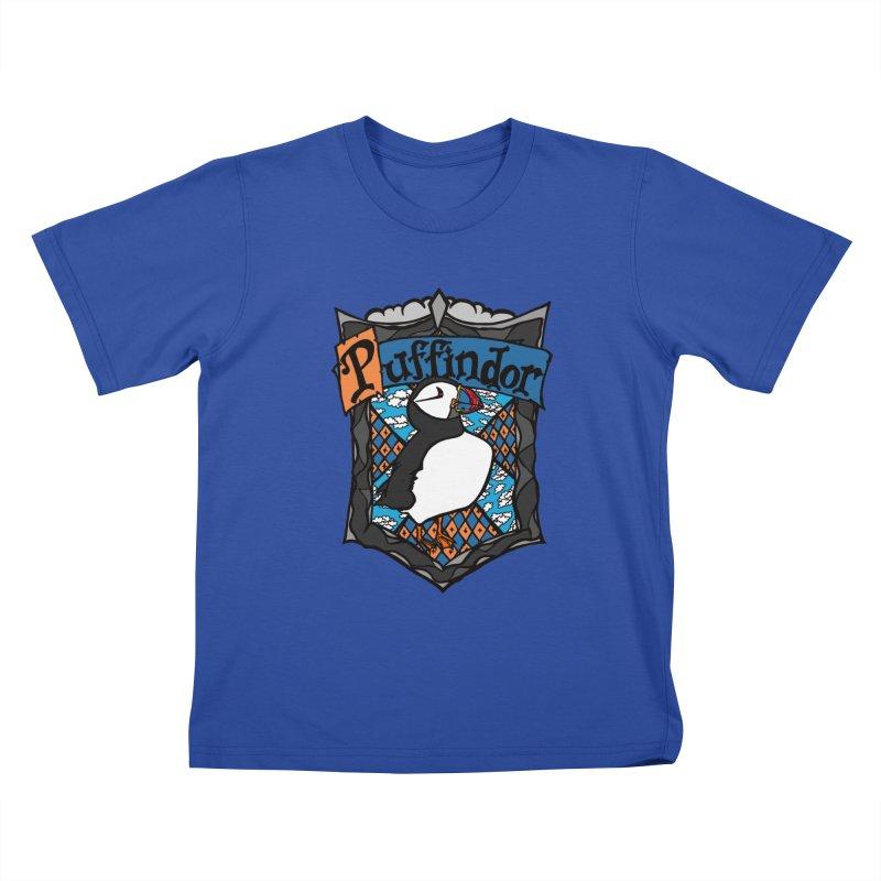 Puffindor Kids T-Shirt by klarasvedang's Shop