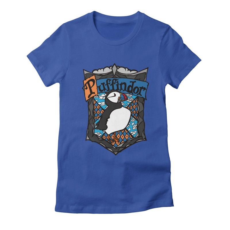 Puffindor Women's Fitted T-Shirt by klarasvedang's Shop