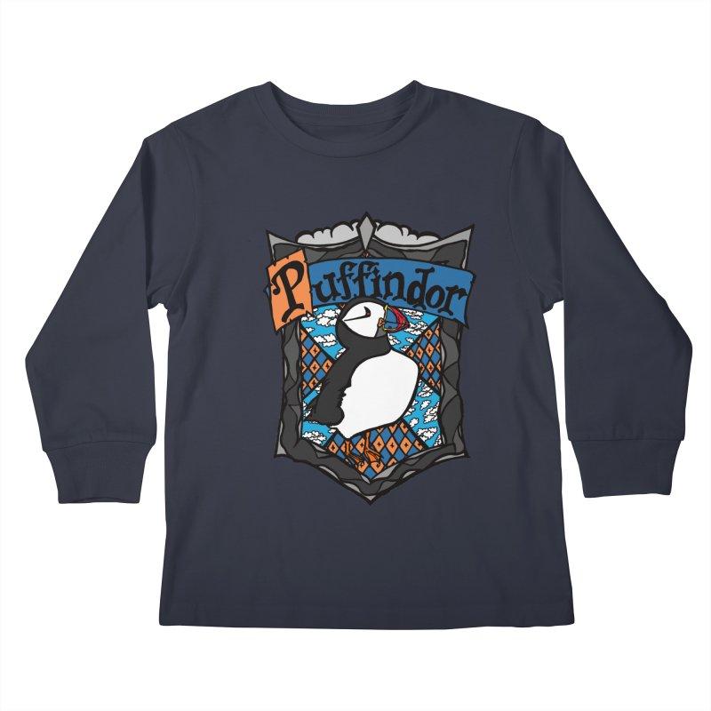 Puffindor Kids Longsleeve T-Shirt by klarasvedang's Shop