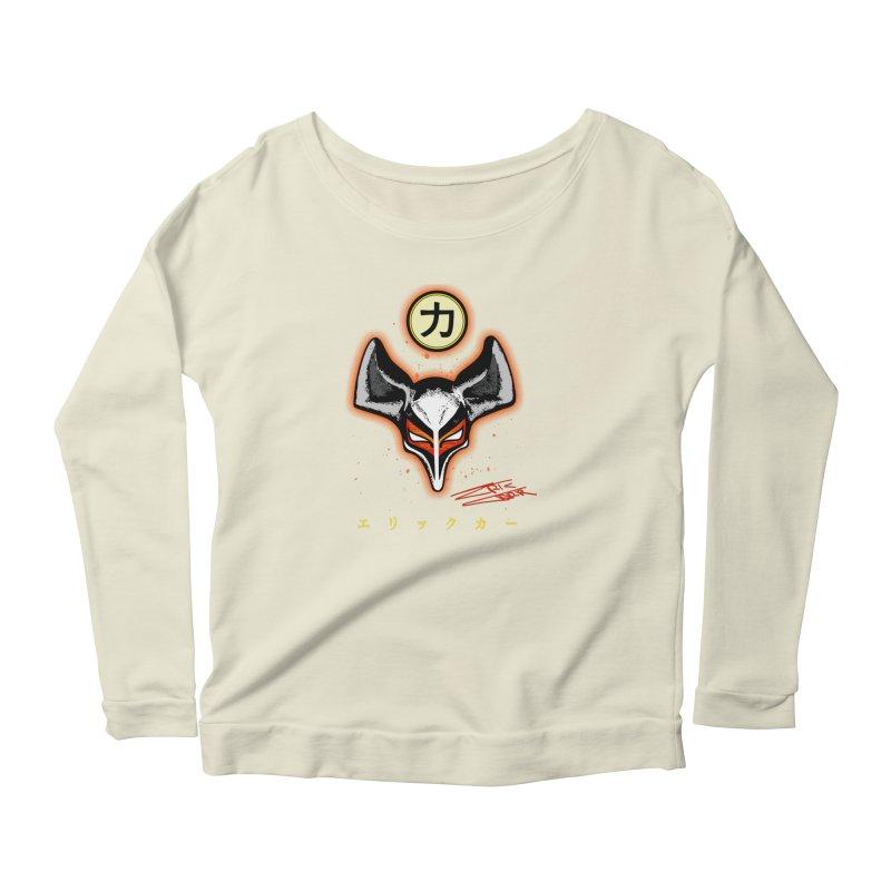 Eric Carr - The Fox Belt Women's Scoop Neck Longsleeve T-Shirt by Klick Tee Shop