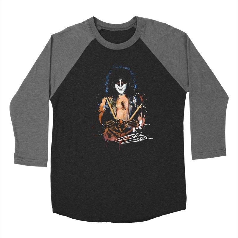 Eric Carr - Smile Men's Baseball Triblend Longsleeve T-Shirt by Klick Tee Shop