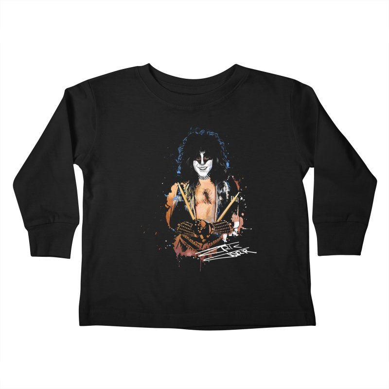 Eric Carr - Smile Kids Toddler Longsleeve T-Shirt by Klick Tee Shop