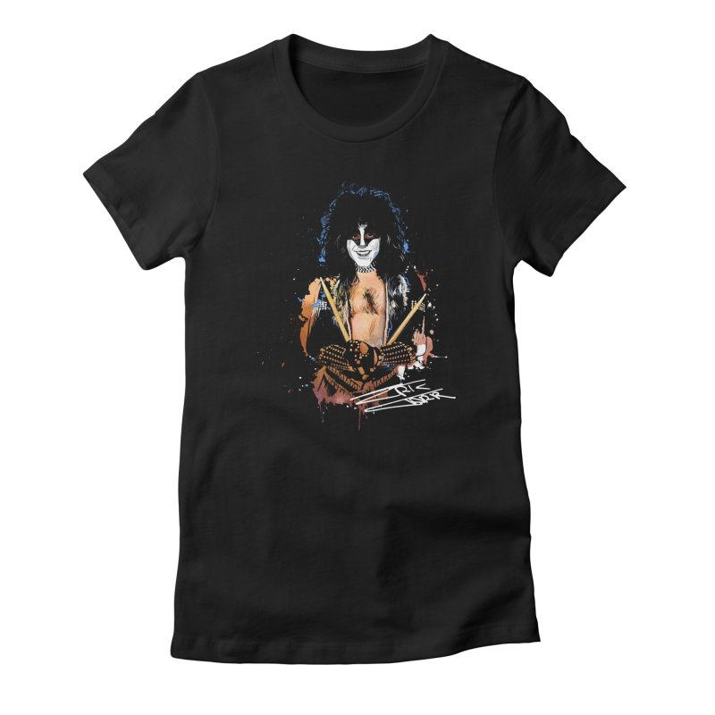 Eric Carr - Smile Women's Fitted T-Shirt by Klick Tee Shop
