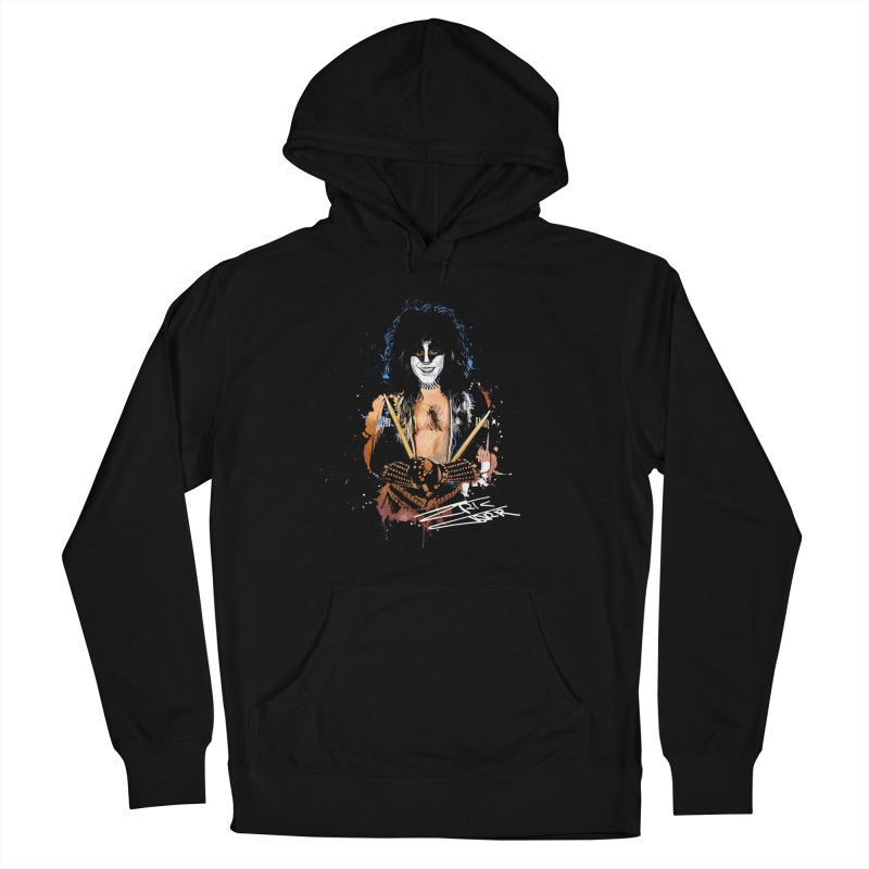 Eric Carr - Smile Men's French Terry Pullover Hoody by Klick Tee Shop