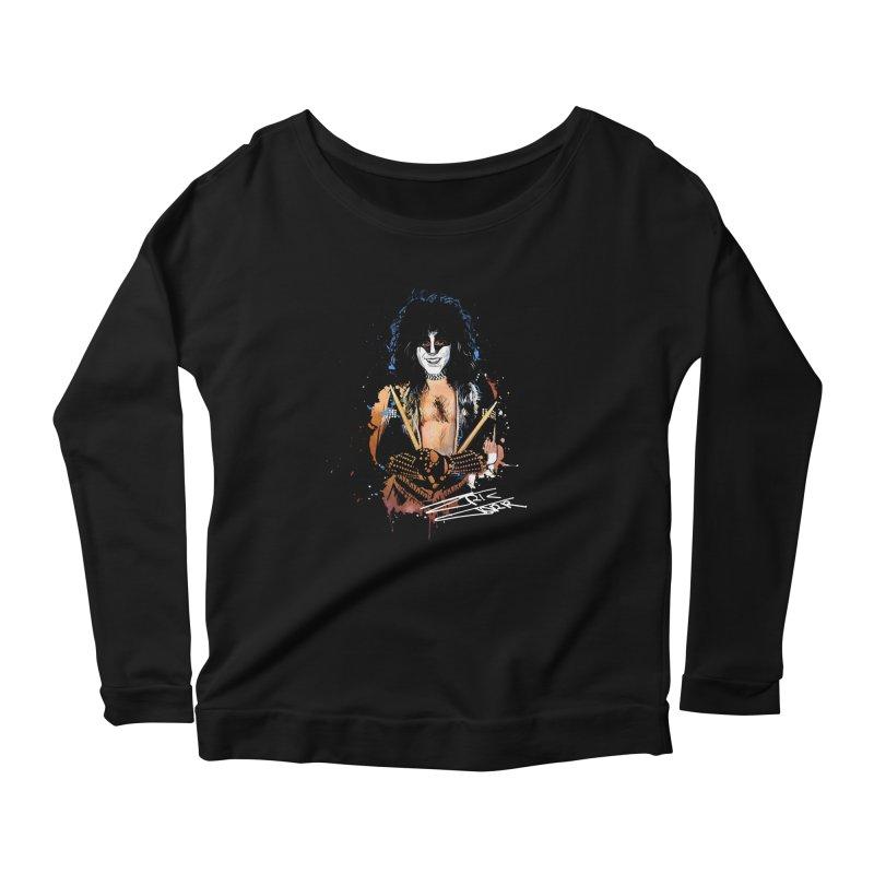 Eric Carr - Smile Women's Scoop Neck Longsleeve T-Shirt by Klick Tee Shop
