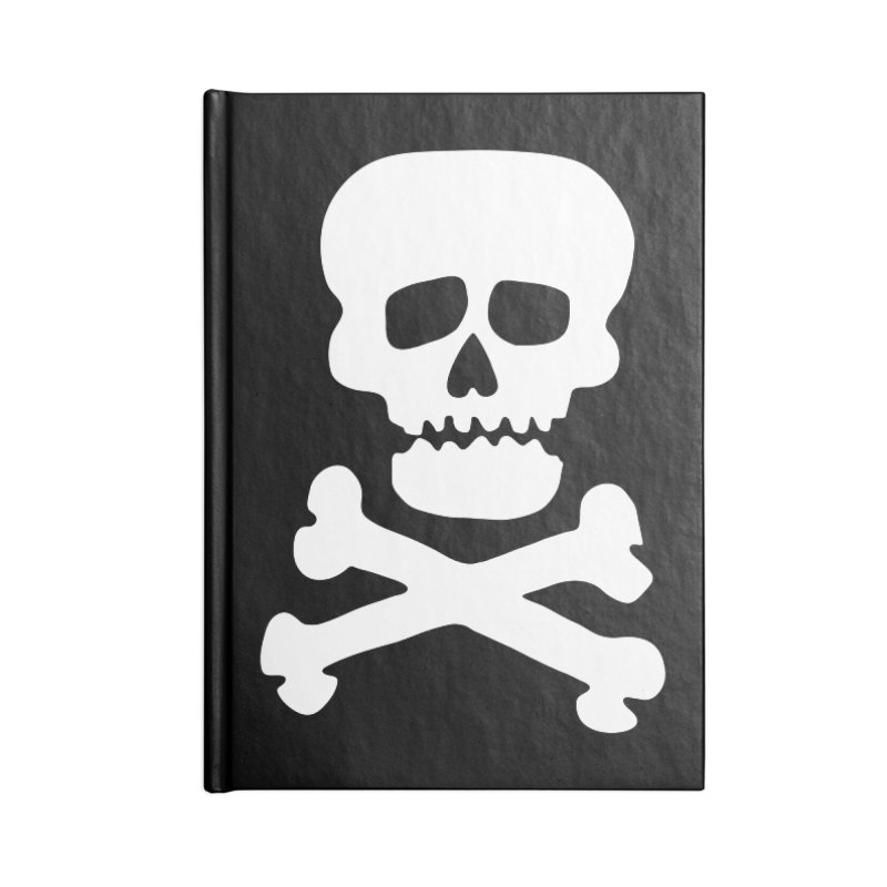 Rock Skull Accessories Blank Journal Notebook by Klick Tee Shop
