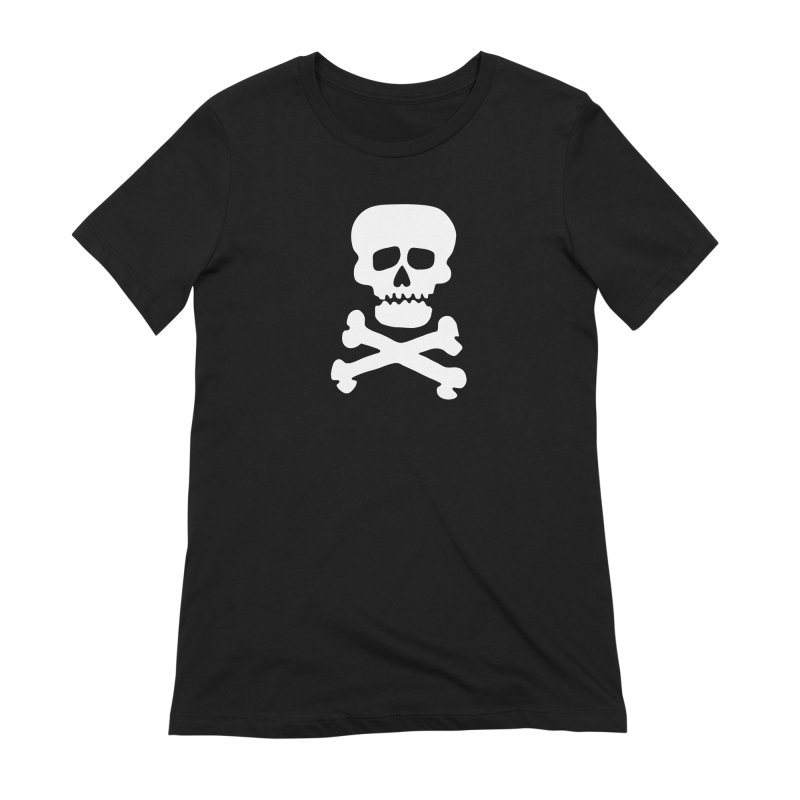 Rock Skull Women's Extra Soft T-Shirt by Klick Tee Shop