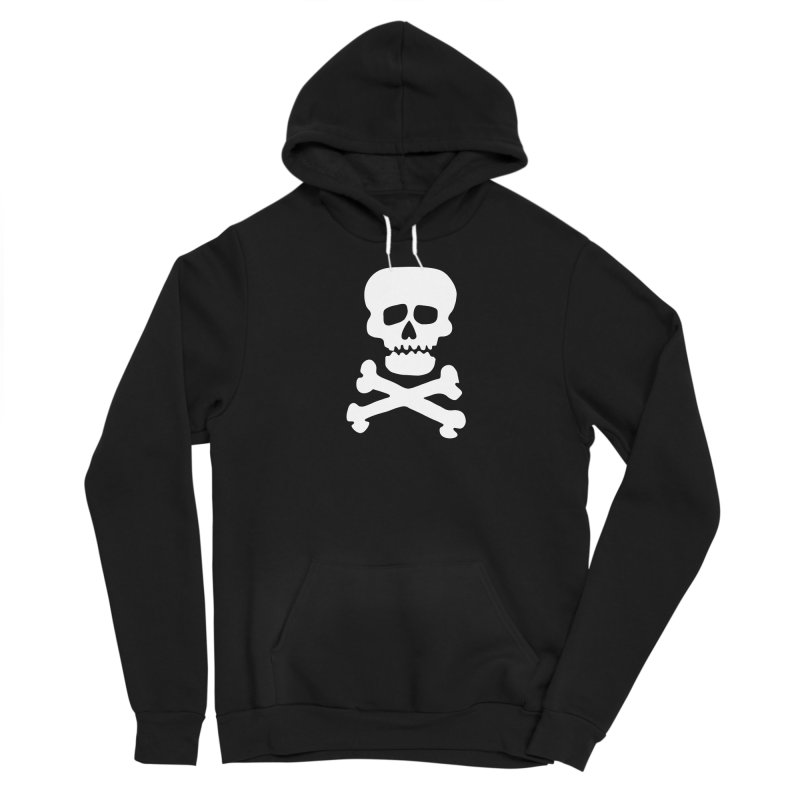 Rock Skull Women's Sponge Fleece Pullover Hoody by Klick Tee Shop