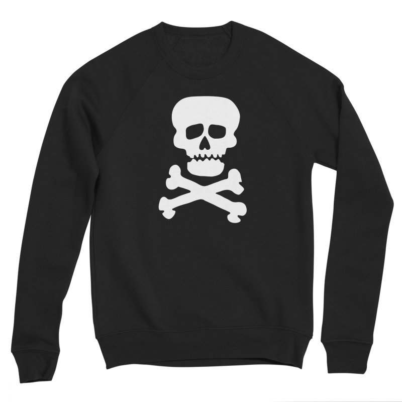 Rock Skull Women's Sponge Fleece Sweatshirt by Klick Tee Shop
