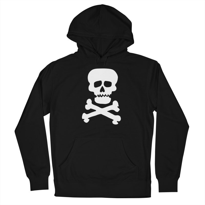Rock Skull Men's French Terry Pullover Hoody by Klick Tee Shop