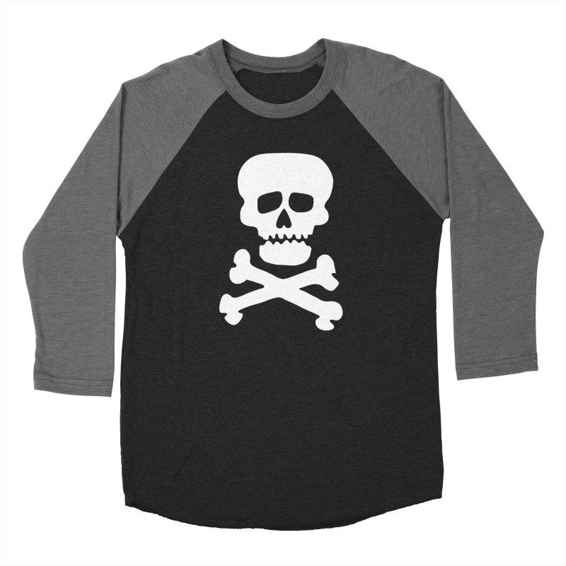 Rock Skull Women's Baseball Triblend Longsleeve T-Shirt by Klick Tee Shop