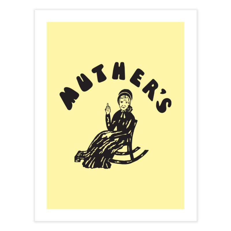 Muther's Music Emporium Home Fine Art Print by Klick Tee Shop