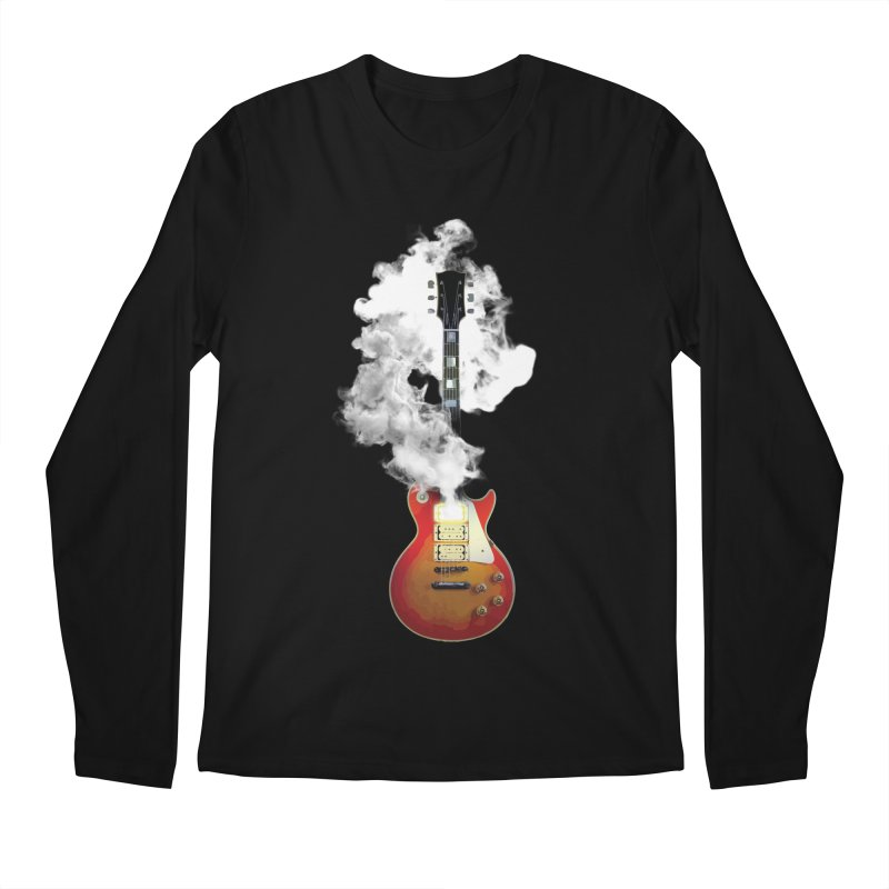KISS Ace Frehley Smoking Guitar Men's Longsleeve T-Shirt by Klick Tee Shop