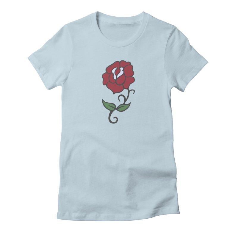 KISS Paul Stanley 'Rose' Women's T-Shirt by Klick Tee Shop