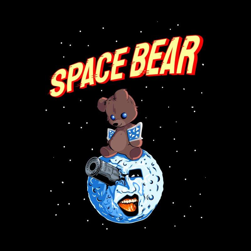KISS Ace Frehley - Space Bear Men's Longsleeve T-Shirt by Klick Tee Shop