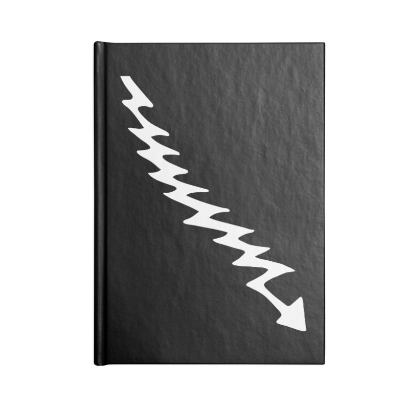 Lightning Bolt Accessories Blank Journal Notebook by Klick Tee Shop