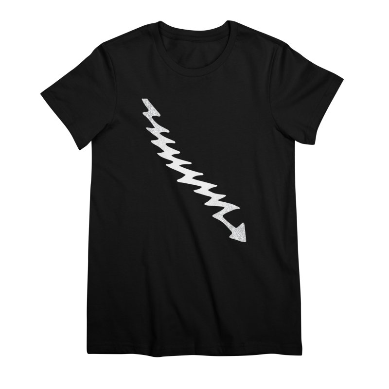 Lightning Bolt Women's Premium T-Shirt by Klick Tee Shop