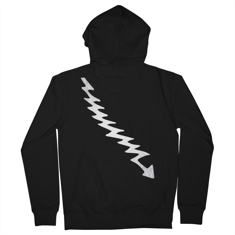 Lightning Bolt Women's French Terry Zip-Up Hoody by Klick Tee Shop