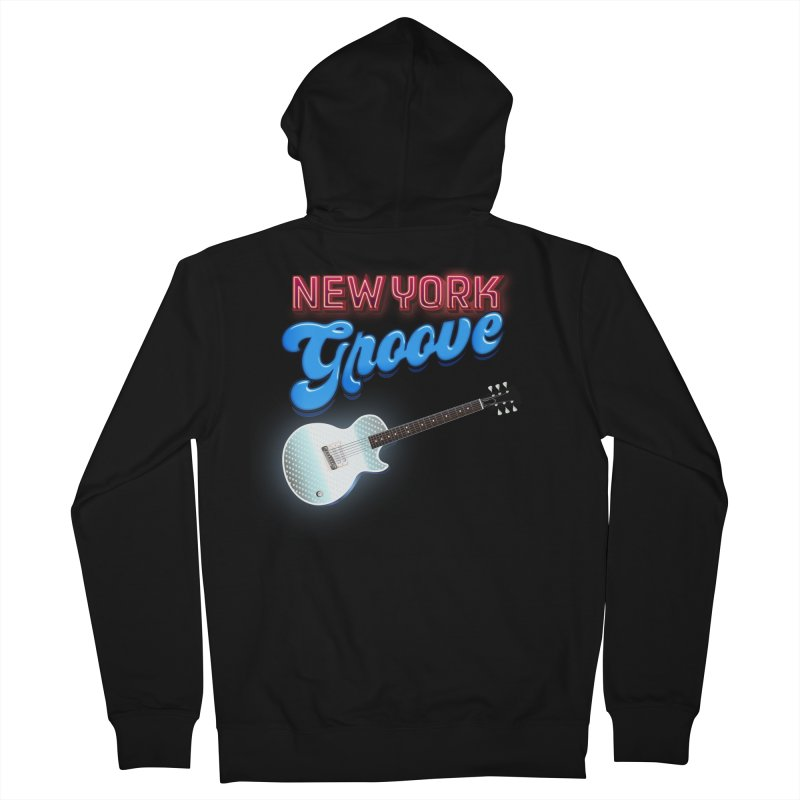 New York Groove Women's French Terry Zip-Up Hoody by Klick Tee Shop