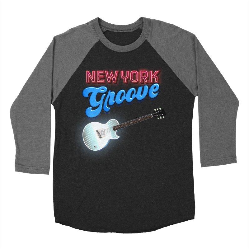 New York Groove Women's Baseball Triblend Longsleeve T-Shirt by Klick Tee Shop