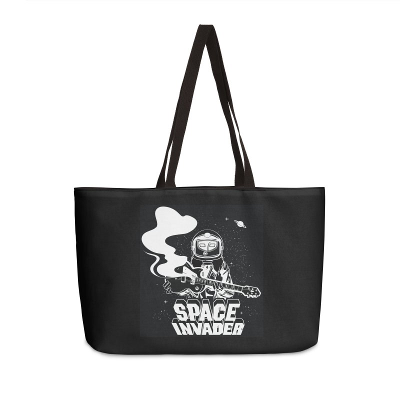 Space Invader Accessories Weekender Bag Bag by Klick Tee Shop