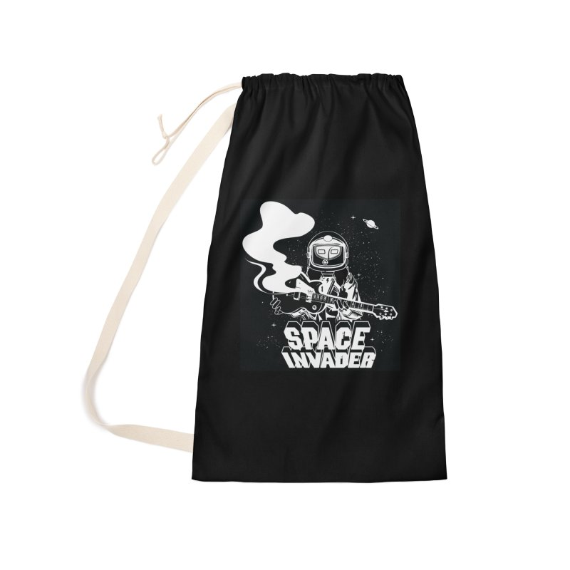 Space Invader Accessories Laundry Bag Bag by Klick Tee Shop