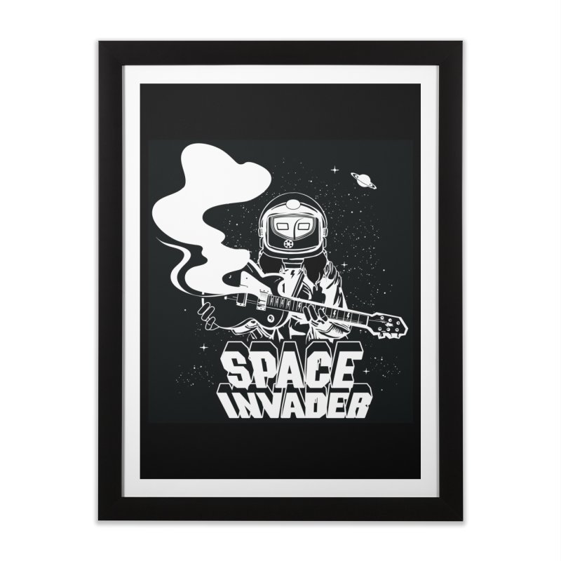 Space Invader Home Framed Fine Art Print by Klick Tee Shop