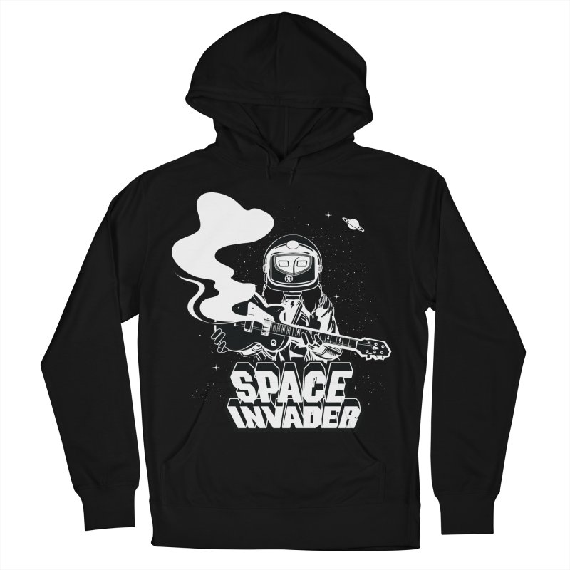 Space Invader Men's French Terry Pullover Hoody by Klick Tee Shop