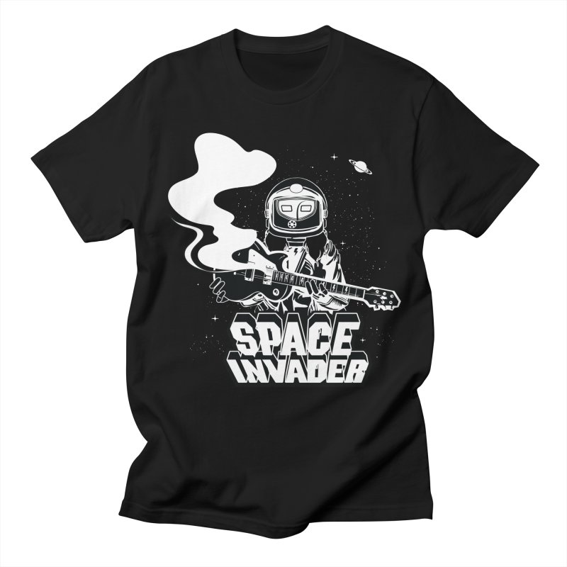 Space Invader in Men's Regular T-Shirt Black by Klick Tee Shop
