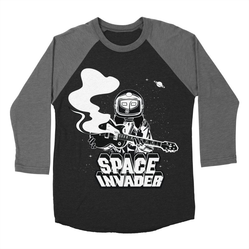 Space Invader Women's Baseball Triblend Longsleeve T-Shirt by Klick Tee Shop