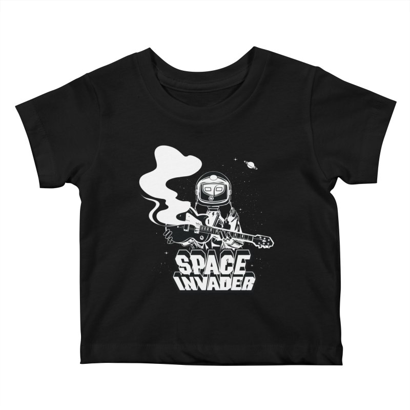 Space Invader Kids Baby T-Shirt by Klick Tee Shop