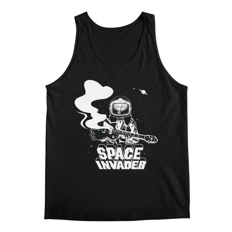 Space Invader Men's Regular Tank by Klick Tee Shop