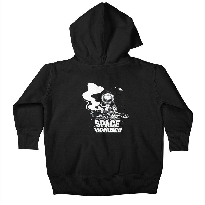 Space Invader Kids Baby Zip-Up Hoody by Klick Tee Shop