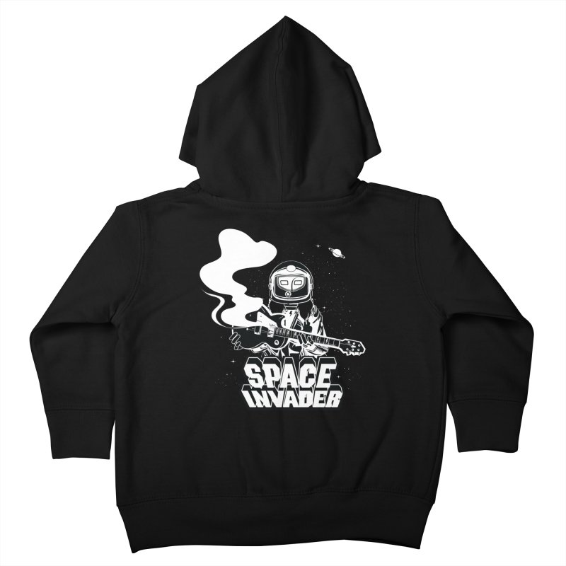 Space Invader Kids Toddler Zip-Up Hoody by Klick Tee Shop