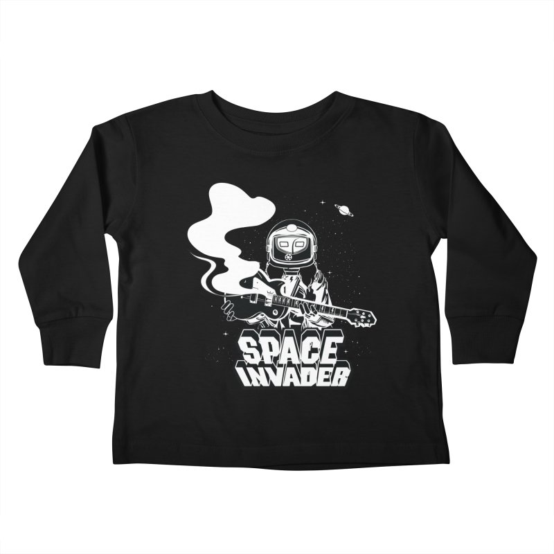Space Invader Kids Toddler Longsleeve T-Shirt by Klick Tee Shop